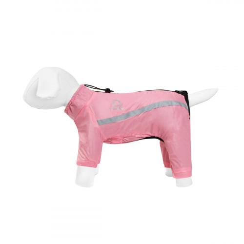 Дождевик Теремок S35 для собак, розовый