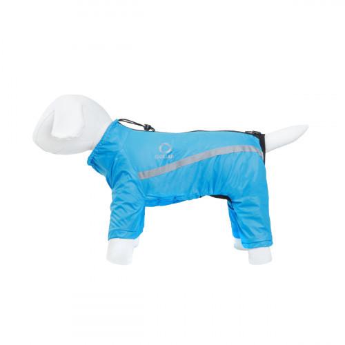 Дождевик Теремок S28 для собак, синий