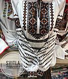Красива вишита жіноча сорочка білого кольору із пишними довгими рукавами «Дзвунка», фото 8
