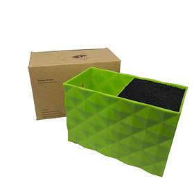 Подставка двойная для парикмахерских ножниц и инструментов SPL 21123, зеленая