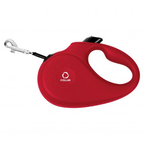 Поводок-рулетка для собак весом до 50 кг, размер L, 5 м, красный
