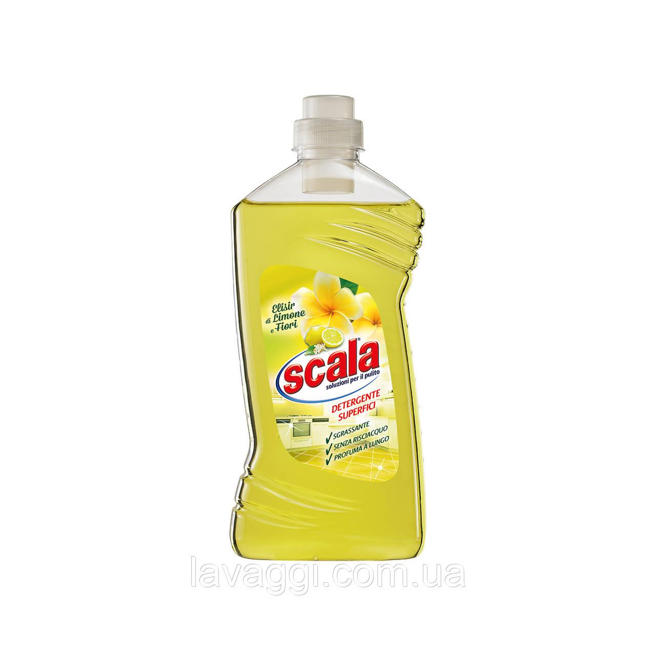 Средство для мытья полов и других поверхностей Scala Detergente Superfici Elisir di Limone e Fiori 1L
