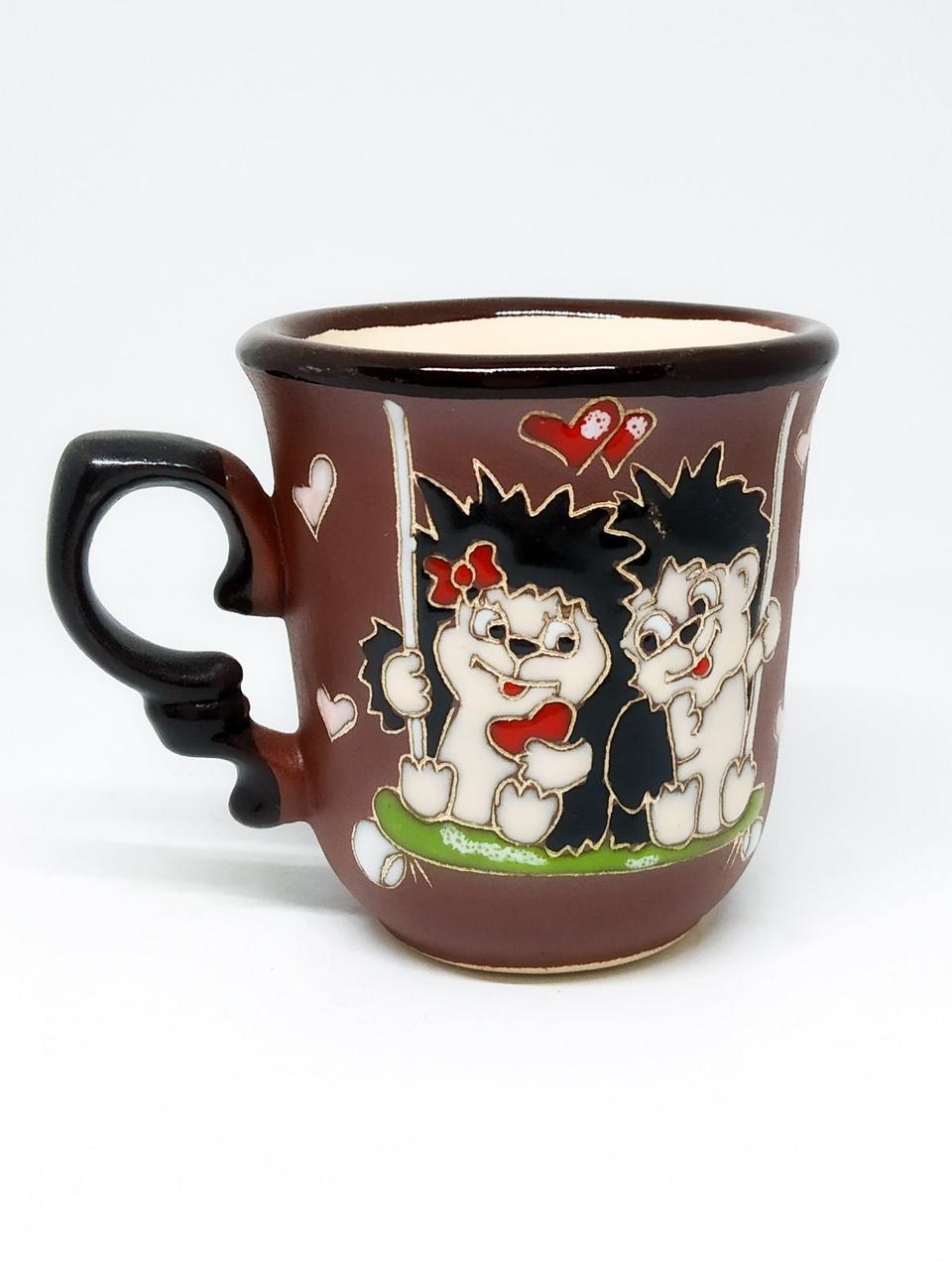 """Чашка кофейная 150мл """"Ежики на качели"""""""