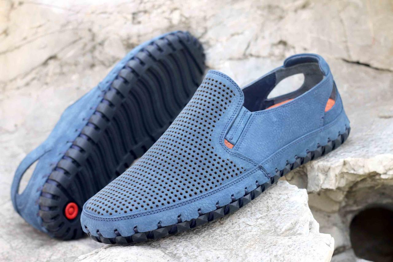 Мокасины Etor 16224-003-734 45 голубые