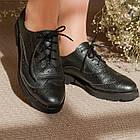 Туфли броги женские 36-40 Woman's heel серые на плоской подошве со шнуровкой, фото 5