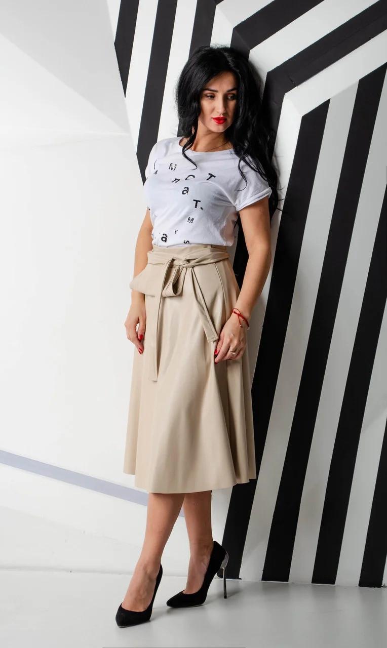 Модный женский сарафан из экокожи 42-48рр.