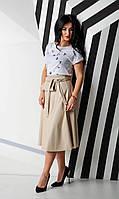 Модный женский сарафан из экокожи 42-48рр., фото 1