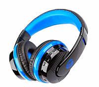 Беспроводные наушники bluetooth блютуз флешка mp3 FM планшета телефона Ipod Ipad iphone синий Ovleng MX666