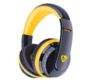 Беспроводные наушники bluetooth блютуз флешка mp3 FM планшета телефона Ipod Ipad iphone желтый Ovleng MX666, фото 2