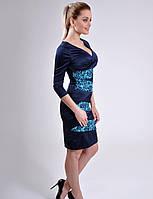 Изящное платье приталенного силуэта атлас р.46