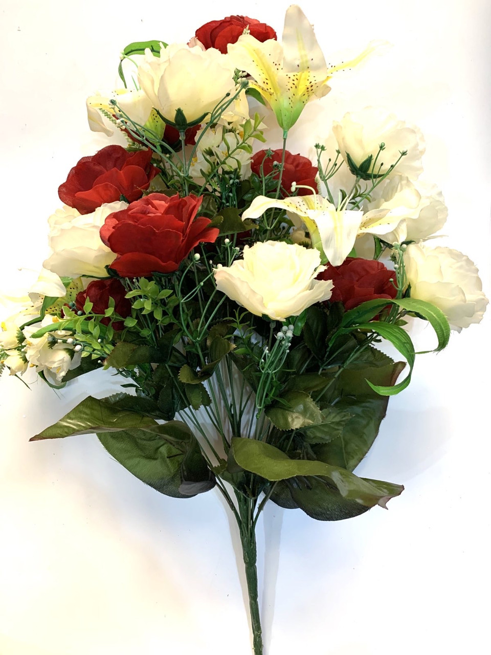 Искусственный букет-композиция Роза с Лилией (80 см)