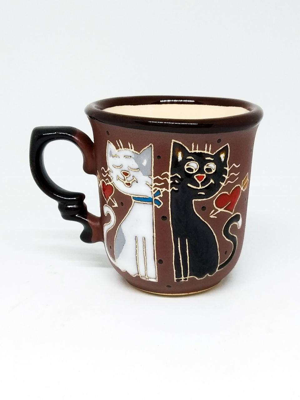 """Чашка кофейная """"Застенчивые коты"""""""