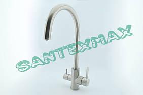 Смеситель для кухни и фильтра Falanco 8204 из нержавеющей стали