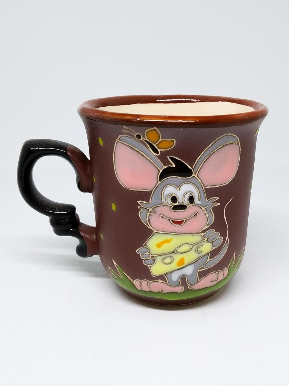 """Чашка кофейная """"Мышка добряк с сыром"""""""