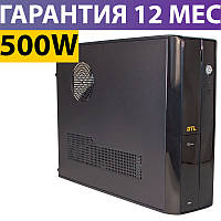 Корпус для ПК (системный блок) GTL 8202 Black 500W, 80mm, Micro ATX / Mini ITX