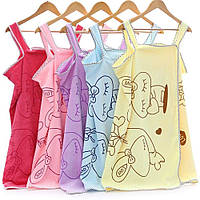 Полотенце-халат банное женское из микрофибры разных цветов