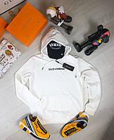 Мужская толстовка худи Dolce & Gabbana D9415 черная