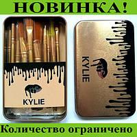 Кисточки для макияжа Kylie (12шт) Profesional brush set- Black!Розница и Опт