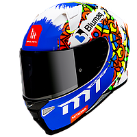 Мотошлем MT Revenge 2 Moto Matt Pearl White, фото 1