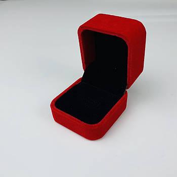 Подарочный бархатный футляр для колец (коробочка премиум качества)