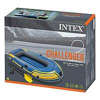 Лодка Intex двухместная 68367, 236 х 114 х 41 см в наборе вёсла и насос
