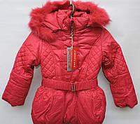 Зимняя удлиненная куртка для девочки 4-7 лет модель 2888