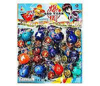 """Игра запускалка """"Bakugan"""" шарик 5.5см, герой, карточка, отрывные(в пакете), 12шт на планшетке//"""