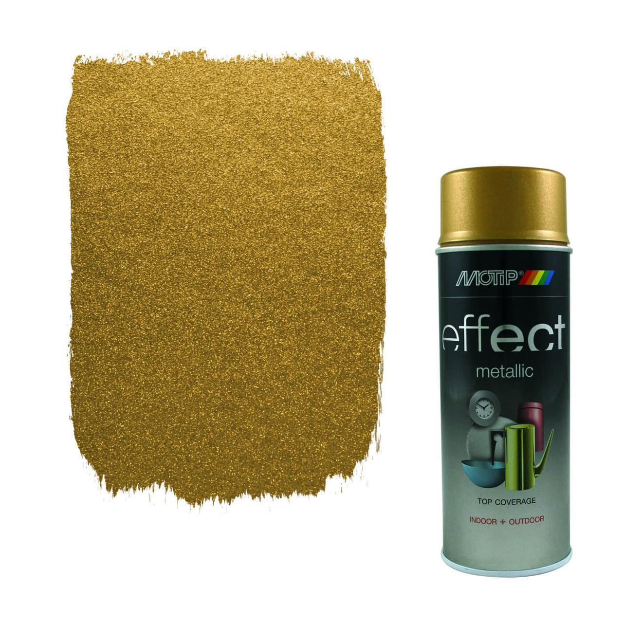 Эмаль с эффектом металлик Motip Deco Effect, 400 мл Аэрозоль Золотистый