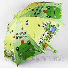 Зонт-трость ОТ ДОЖДЯ И СОЛНЦА детский с черной оборотной стороной  Длина 70 см, диаметр 84 см. Полуавтомат