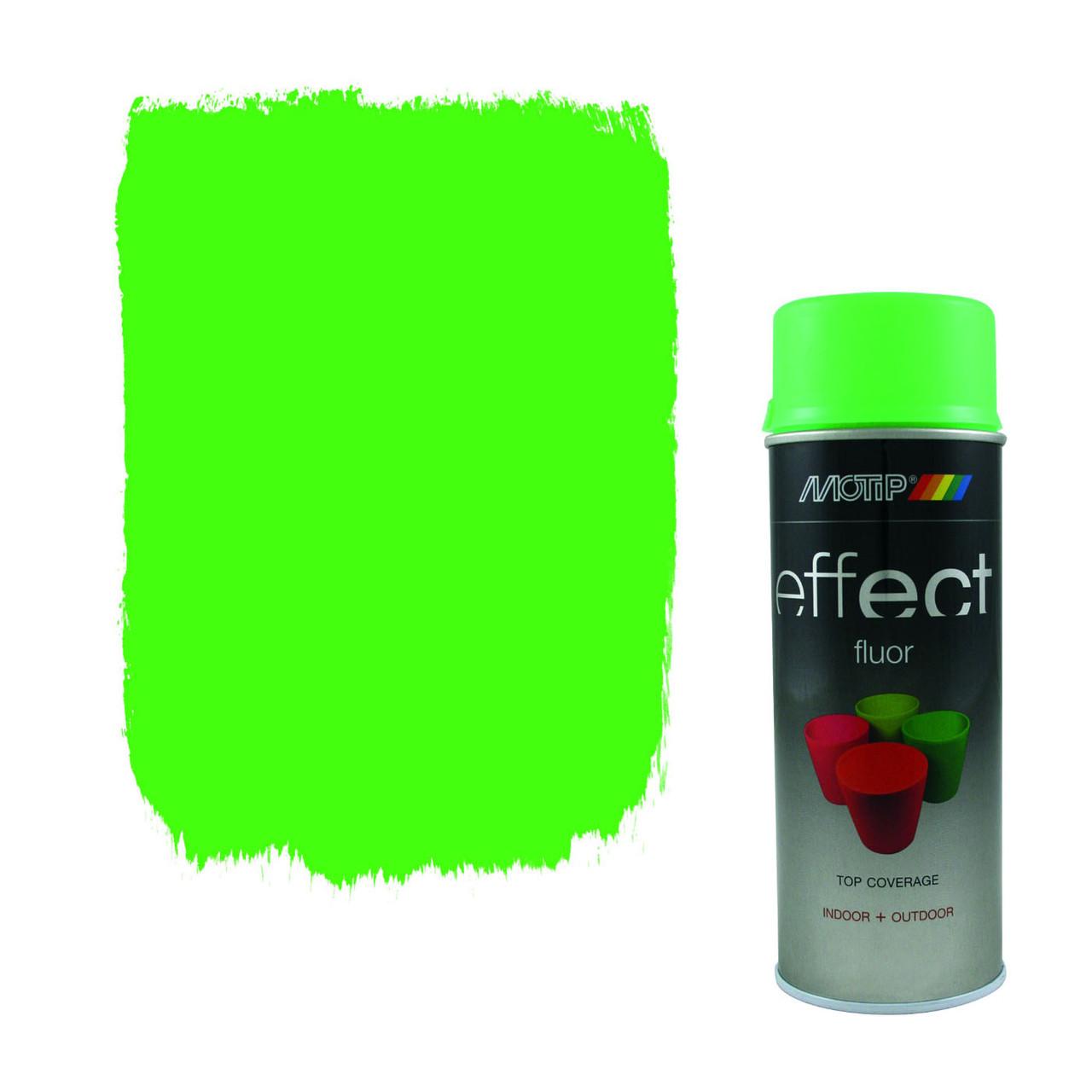 Эмаль флуоресцентная Motip Deco Effect, 400 мл Аэрозоль Зеленая