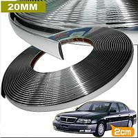 Хром молдинг  для авто 3M х 20мм, фото 1