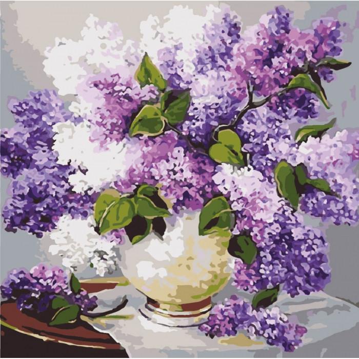 Картина по номерам Весенние ароматы ТМ Идейка 40 х 40 см КНО2085