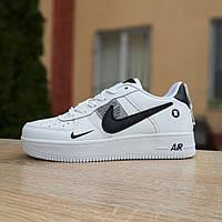Кроссовки женские Nike Air Force 1 LV8 белые с чёрным, фото 1