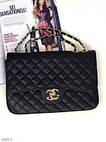 Черная женская маленькая сумочка через плечо сумка клатч черный на цепочке экокожа. Цена опт.