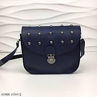 Сумочка женская через плечо сумка кросс-боди экокожа темно-синяя 11369/2. Цена опт.