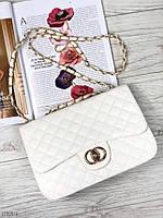 Маленькая сумочка клатч белая женская сумка через плечо экокожа. Цена опт.