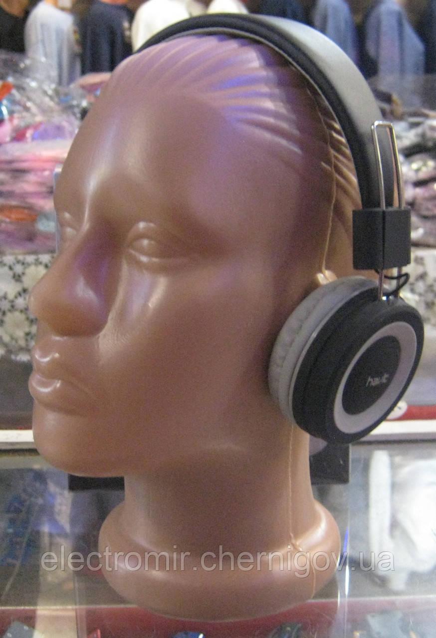 Наушники проводные с микрофоном Havit HV-H2218d (серые)