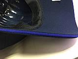 Бейсболка  мужская из трикотажного полотна размер 58-60 цвет чёрный с синим, фото 3