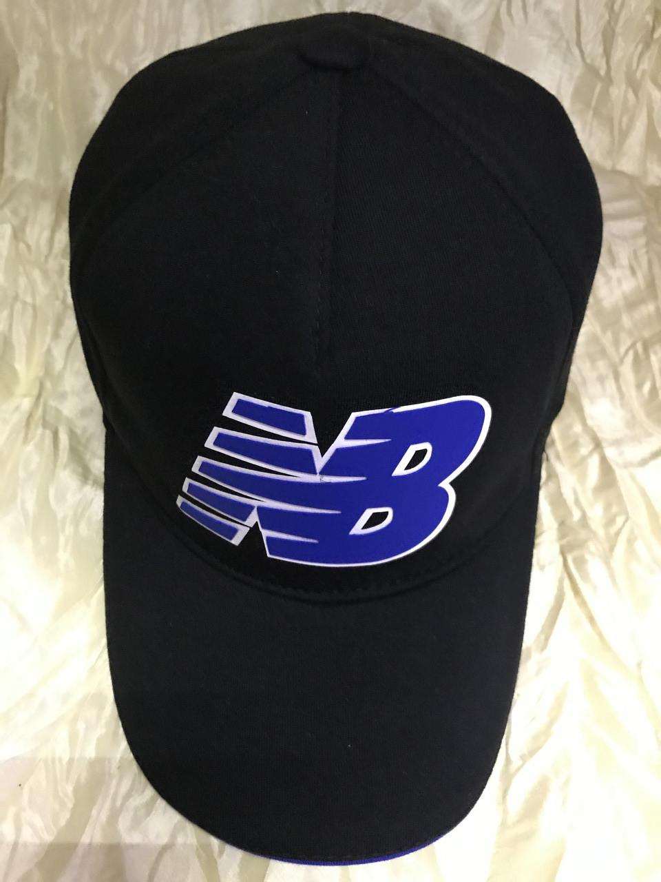 Бейсболка  мужская из трикотажного полотна размер 58-60 цвет чёрный с синим
