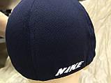 Бейсболка  мужская из трикотажного полотна размер 58-60 цвет чёрный с синим, фото 5