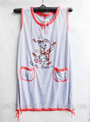 Нічна сорочка оптом 100%Cotton (XL-4XL) D61-50080, фото 2