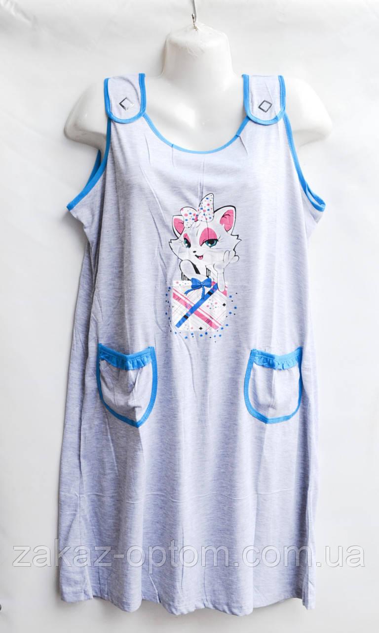Ночная рубашка оптом 100%Cotton (XL-5XL) D18-50082