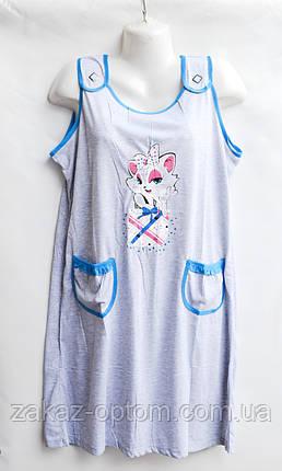 Ночная рубашка оптом 100%Cotton (XL-5XL) D18-50082, фото 2