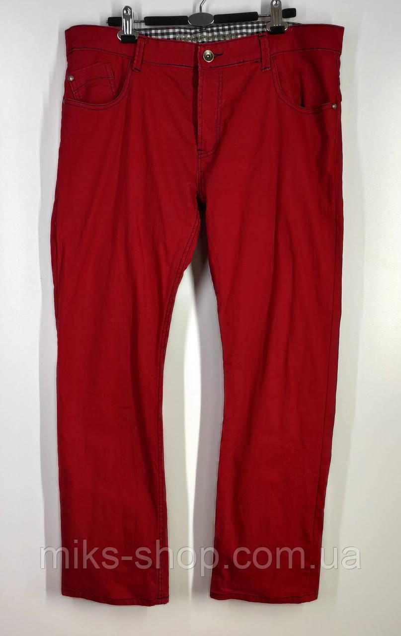 Яркие мужские прямые джинсы на пуговицах бренда BUCK ROJER размер 54
