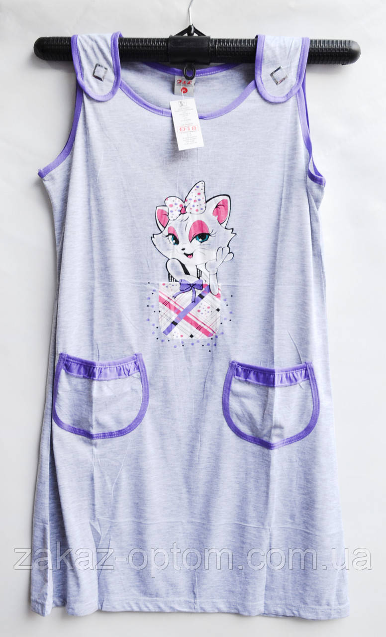 Ночная рубашка оптом 100%Cotton (XL-5XL) D18-50085