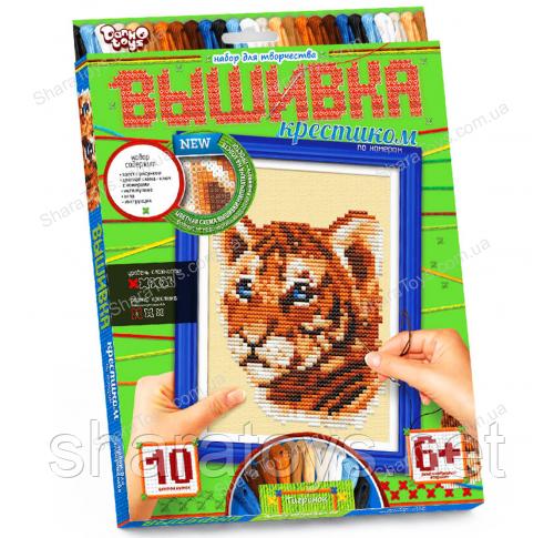 """Вышивка крестиком по номерам """"Тигр"""""""