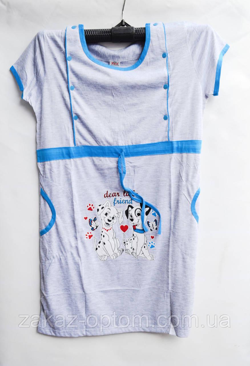 Ночная рубашка оптом 100%Cotton (XL-3XL) D118-50091