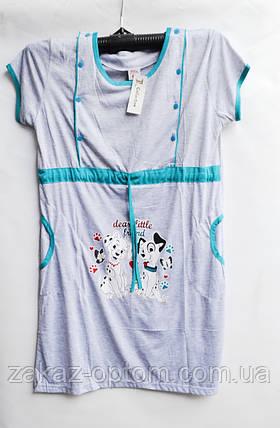 Ночная рубашка оптом 100%Cotton (XL-3XL) D118-50093, фото 2