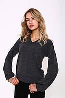 Джемпер женский 115R207 цвет Темно-серый меланж