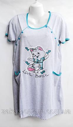 Ночная рубашка оптом 100%Cotton (XL-5XL) D99-50094, фото 2